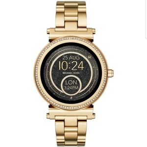 NWT authentic MK gold smartwatch